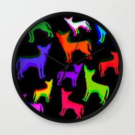 Chihuahua Pattern Wall Clock