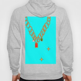 Jewels, gems of ruby, pearl and emerald Hoody
