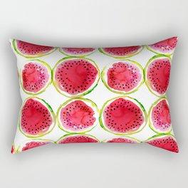 Watercolor watermelon fruit illustration Rectangular Pillow