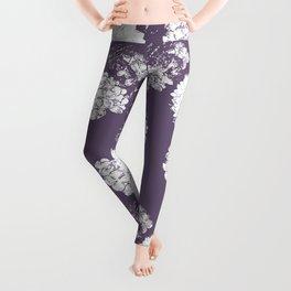 White on Purple Leggings