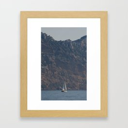 Sailing In The Mediterranean, France Framed Art Print