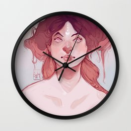 Messy hair don't care Wall Clock