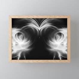 abstract fractals mirrored reacbw Framed Mini Art Print