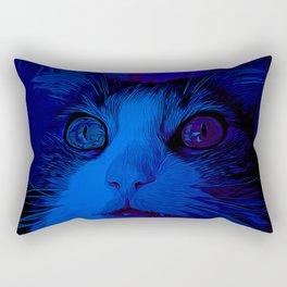 norwegian forest cat omg vector art moonlight Rectangular Pillow