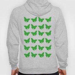 Green Bold Mod Butterflies Hoody