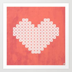 Heart X Red Art Print