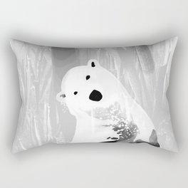 Unique Black and White Polar Bear Design Rectangular Pillow
