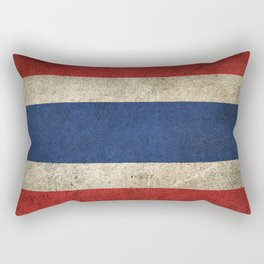 Old and Worn Distressed Vintage Flag of Thailand Rectangular Pillow