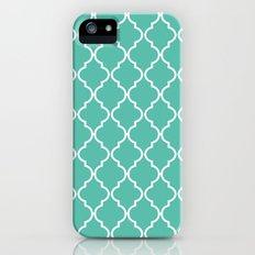 Quatrefoil - Teal iPhone (5, 5s) Slim Case