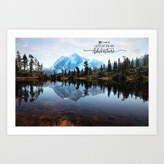 Mt Shuksan-adventure Art Print