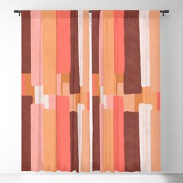 Line In Coral #society6 #abstractart Blackout Curtain
