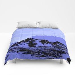 Chugach Mountains - Blue Pop Art Comforters