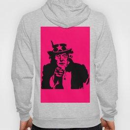 Neon Pink Uncle Trump Needs You Hoody
