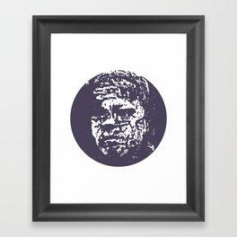 Faces, 5 Framed Art Print