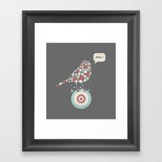 Bubble-Bird Framed Art Print