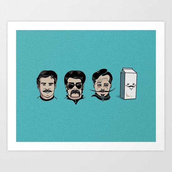 Mustache Club Art Print