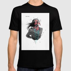For Her Black SMALL Mens Fitted Tee