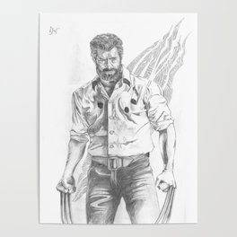 Logan pencil sketch Poster