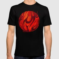 Fireball Black X-LARGE Mens Fitted Tee