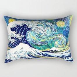 Tardis Starry Wave Night Rectangular Pillow