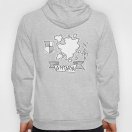 Antaria - Fantasy Map with Wind Rose and Crest Hoody