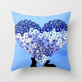 Love Bunnies Throw Pillow