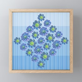 Blues and Greens Framed Mini Art Print