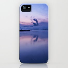 Tranquil blue nature iPhone Case