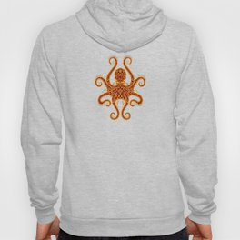 Intricate Red and Yellow Octopus Hoody