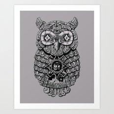 Ancient Owl Art Print