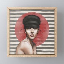Woman portrait. Pars France Framed Mini Art Print
