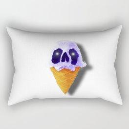 Skull Blue Ice Cream Rectangular Pillow