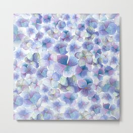 Romantic small blue flowers Metal Print