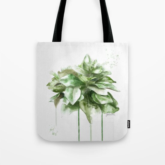 green plant Tote Bag