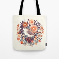 christian Tote Bags featuring Wren Day by Teagan White
