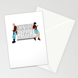 Skinhead Reggae design - Anti-Racism Trojan Skinhead Clothing Stationery Cards