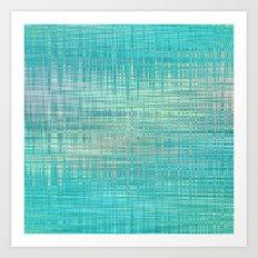 Abstract Blue Pastel Art Print