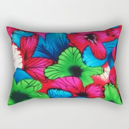 Rainbow Flowers  #Society6 #decor #buyart Rectangular Pillow