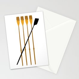 Rowing Oars 3 Stationery Cards