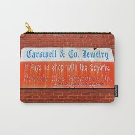 Old Jewelry Store Sign Carry-All Pouch