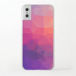 Sunset Low Poly Clear iPhone Case