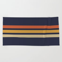 Vintage Retro Stripes Beach Towel