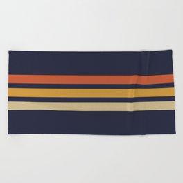 Vintage Retro Stripes Beach Towel
