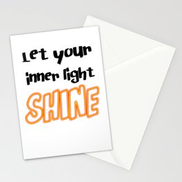 Let Your Inner Light Shine Stationery Cards