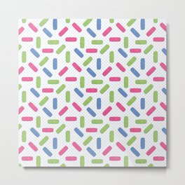 Pink, green and blue bandages Metal Print