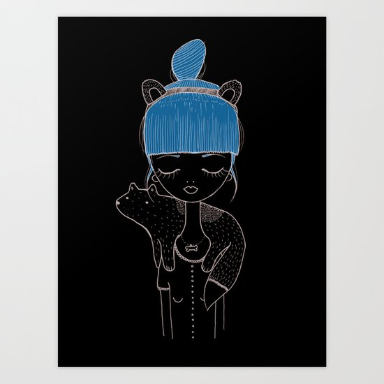 I want to be a little dog. Art Print