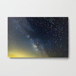 Milky Way bokeh Metal Print