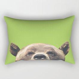 Bear - Green Rectangular Pillow