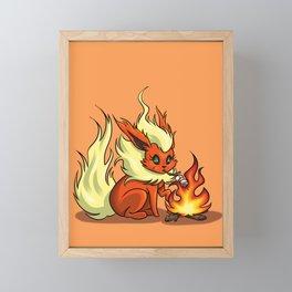 Flareon Framed Mini Art Print