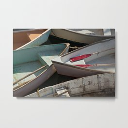 Schoodic Peninsula Boats Metal Print